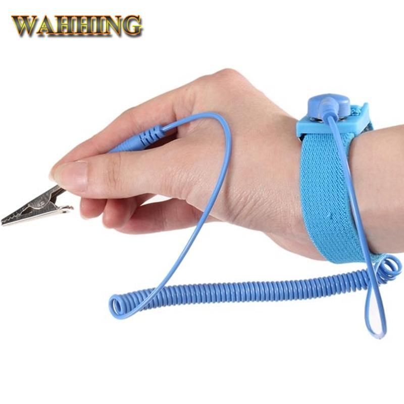 Антистатических провода Зажим Антистатического браслет браслет ESD ремешок Электрических Static Eliminator для электронных работников HY176