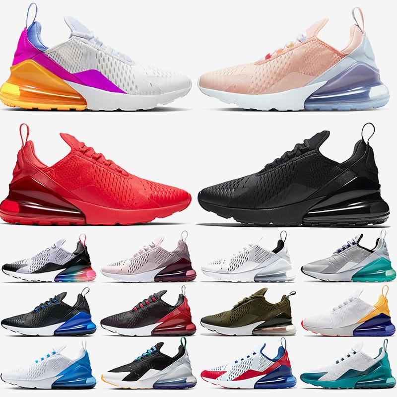 nike air max 270 Free Run das mulheres dos homens Almofadas Running Shoes corredores Trainers Núcleo Branco Triplo s Preto Mal Rose Bred Photo Blue Tennis Sports Sneakers