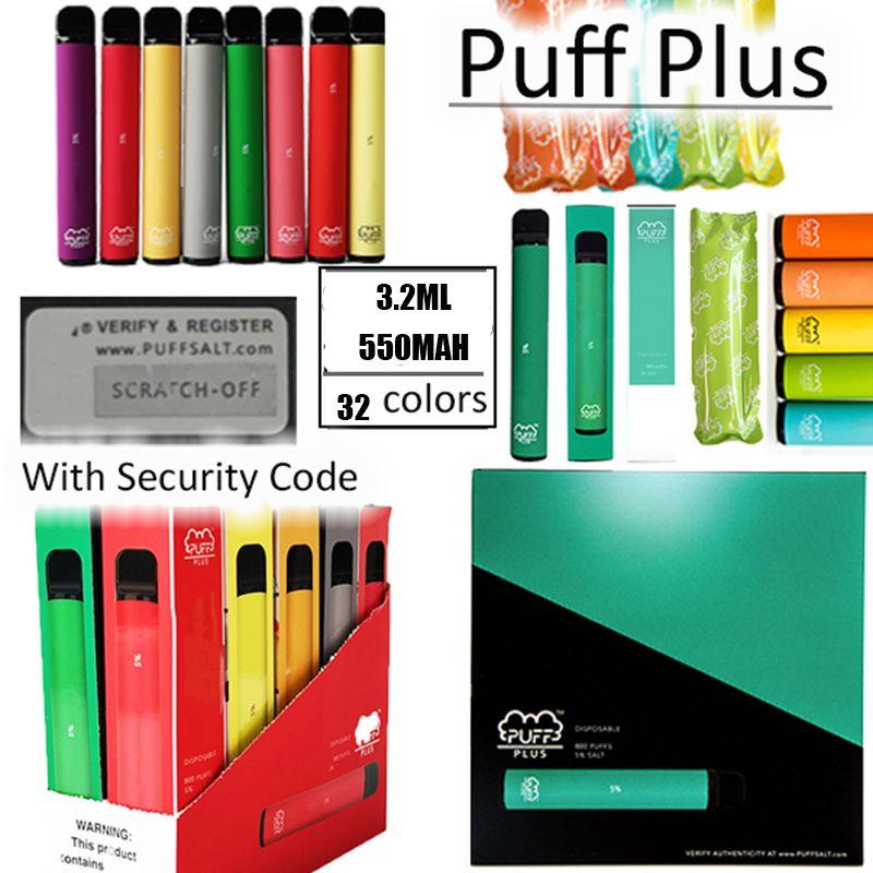 32 colores soplo Plus 3,2 ml dispositivo desechable vainas 550mAh Mejorada vaporizador precargada Vape plumas vacías de arranque Kits E Cigs