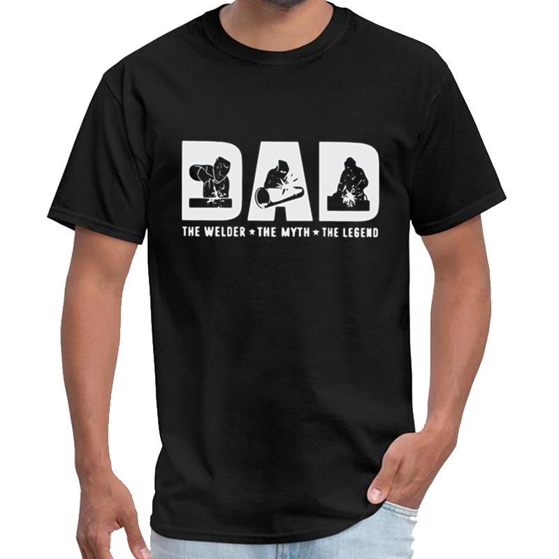 Impreso papá el soldador el mito la leyenda camiseta animado undertale Mujer Hombre camiseta 3XL 4XL 5XL hiphop superior