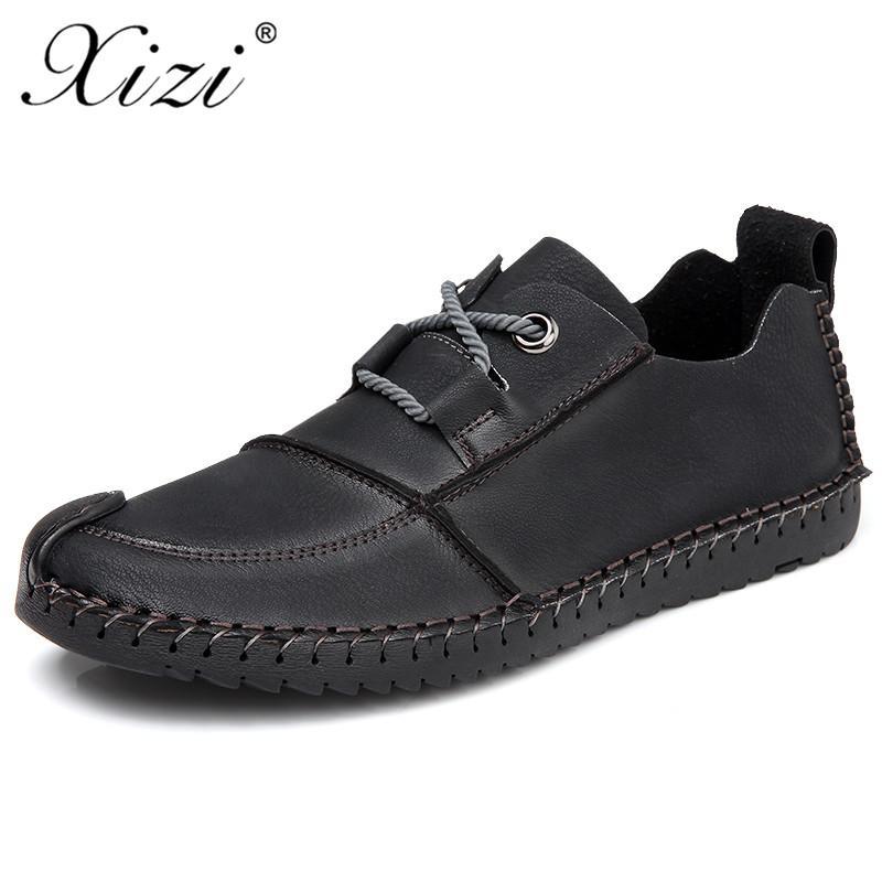 Xizi Marca Homens Fashion Shoes microfibra couro Sapatos Homem Sneaker moda spadrilles manuais Casual Mocassins Além disso Big Size 38-46