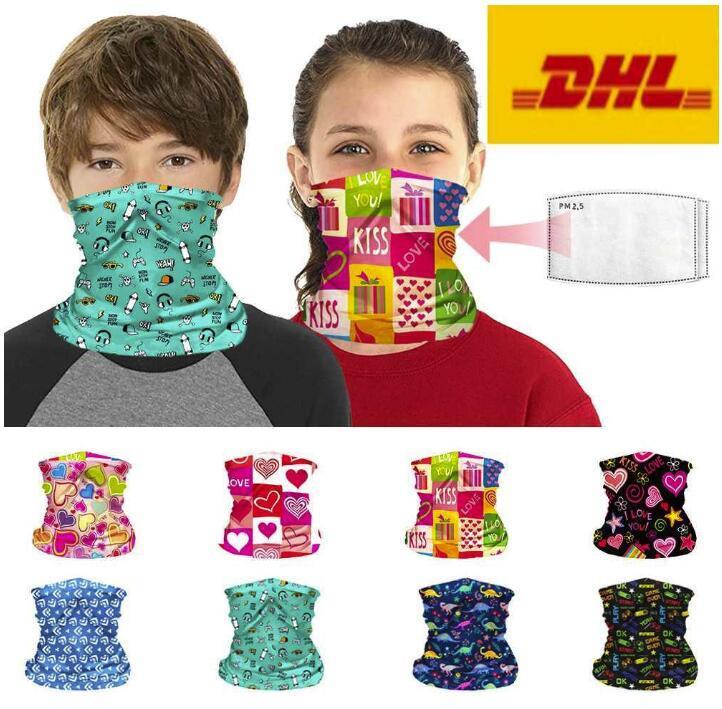 EE.UU. stock Camiseta Ciclismo máscaras con filtro de PM 2,5 bufanda mágica del pañuelo de la motocicleta Pañuelos Pañuelo cuello de la cara máscara máscaras montar a caballo al aire libre FY7141