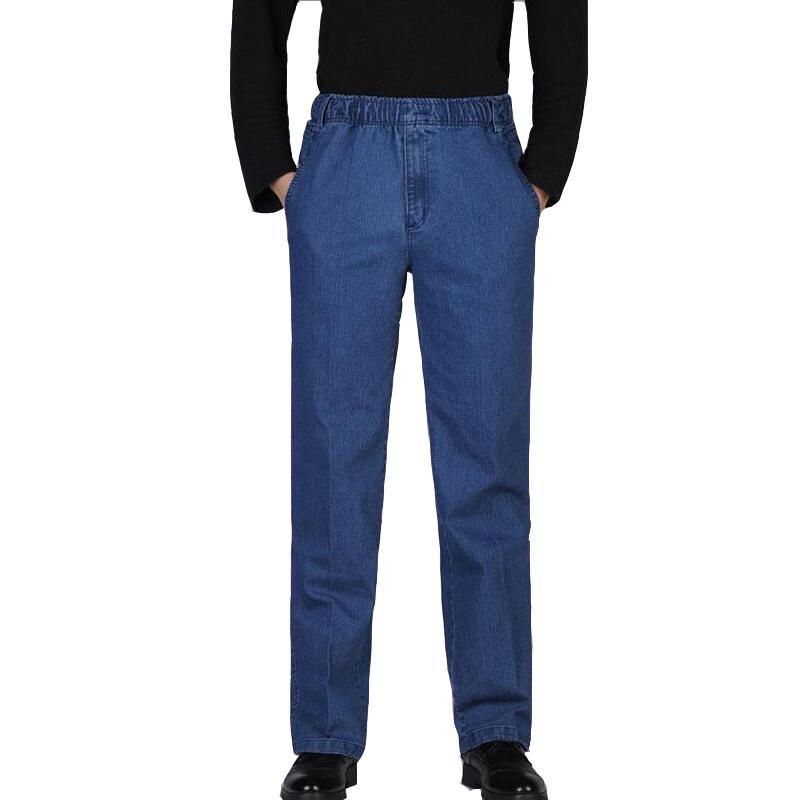 Vaqueros rectos XXXXXL para los hombres de los hombres ocasionales del tamaño del verano pantalones vaqueros del estilo China importó A0614