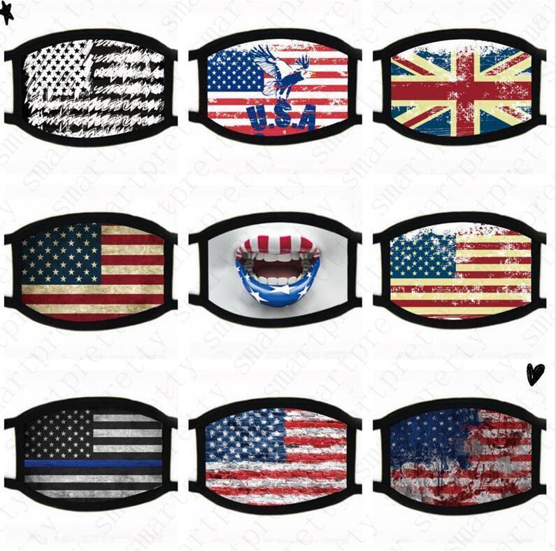 Amerika USA-Flagge-Eagle-Trump-Druck Masken Waschbar Cotton Gesichtsmaske atmungsaktiv Sommer-Frauen Mann Outdoor Radsport Masken 2020 D52009V1P7