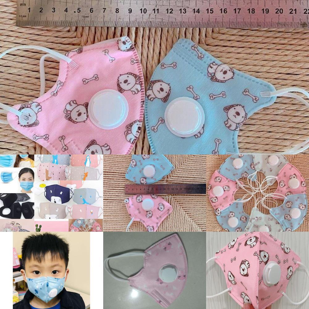 moda Com as crianças Máscara válvula respiratória Anti-fumaça rosto reutilizável lavável Dustproof mais sa GX971