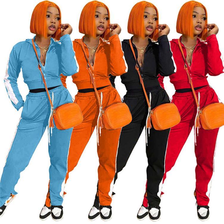 Womens concepteur de deux Survêtement marque de jeu de pièces sportswear pull + pantalon legging dessus + sweat collants costume sport klw4807