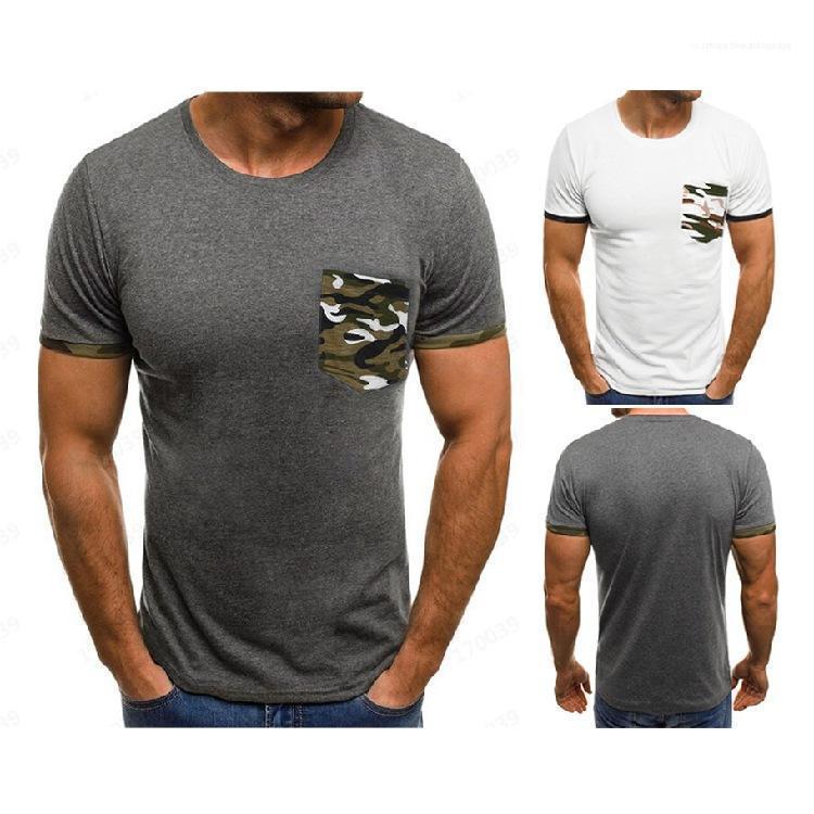 Kamuflaj Cep Kısa Kollu Erkek Giyim Erkek 2020 Lüks Tasarımcı tişörtleri Moda Yaz Erkekler Tees Tops