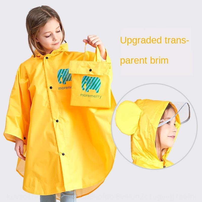 poncho estudantes capa de chuva capa da escola primária cabeça-montada 11-12-13 anos solta uma peça manto de crianças saem qxCNE