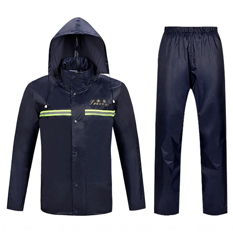 N2zrC Split and riding suit double-layer mesh lining front rear reflective reflective strip raincoat outdoor strip raincoat