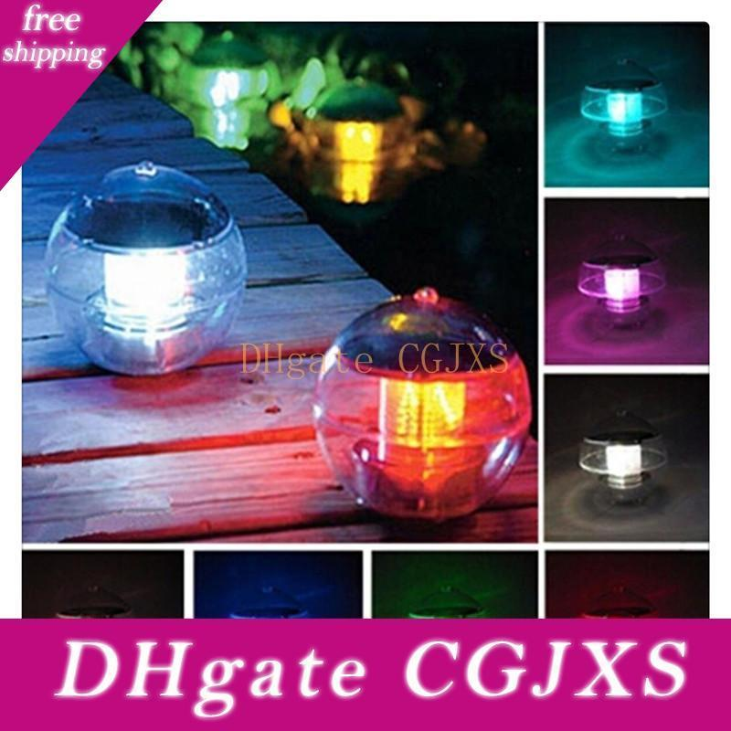 Magic Sun Solar Power Led Color Changing Globe Light Waterproof Floating Swimming Pool Party Decor Color Changing Free Shipping