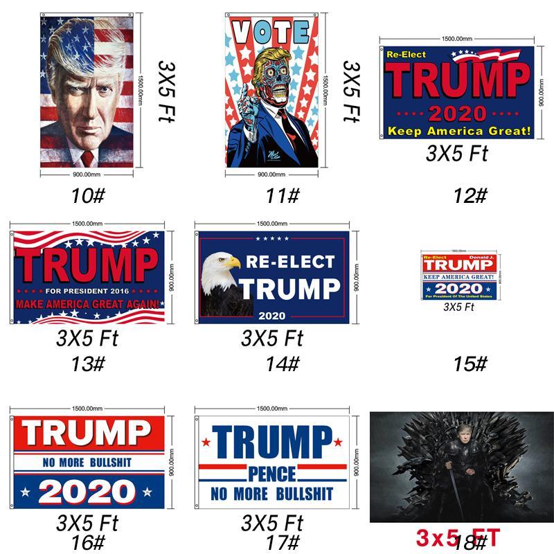 Trump Bandiera 90 * 150CM Donald Trump V S Joe Biden Banner Bandiere per il presidente USA Election Banner 14 * 21 cm appiglio Bandiera decorazione del partito GGA3476-2