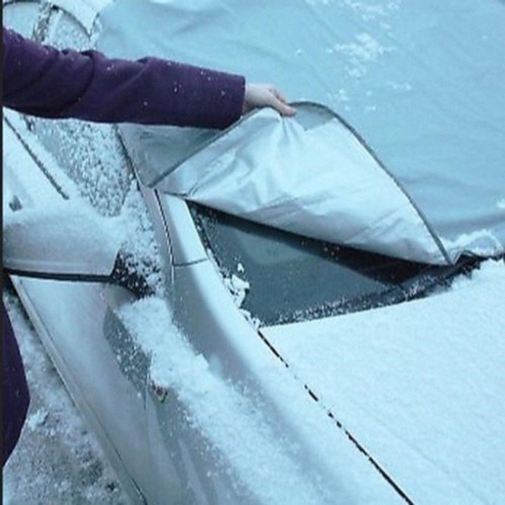 Car Cover empêcher la neige de glace soleil ombre poussière gel congélation Pare-brise de voiture Protecteur universel pour Auto FMI3 #