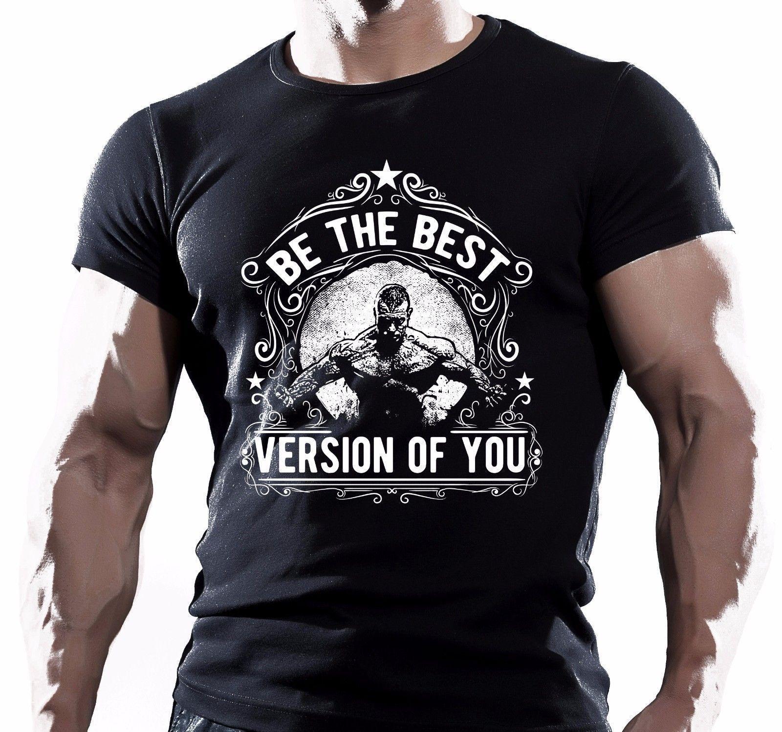 2019 neue Ankunfts-Herrenmode The Best Of You Versione Trainer Bodybuilding Motivante T-Shirt Trainings-Druck-T-Shirts