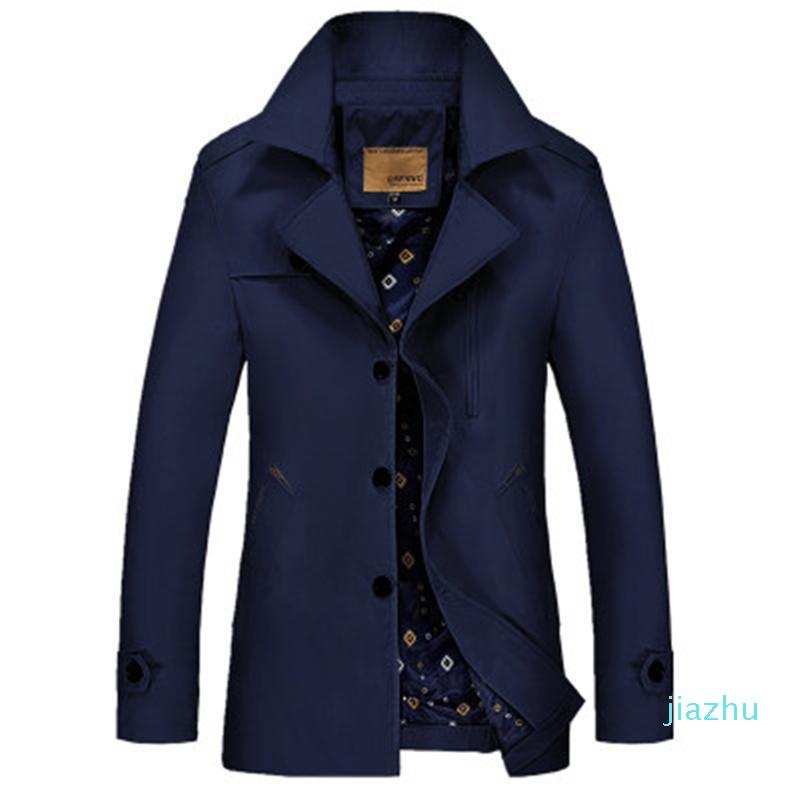 Venta caliente larga chaqueta delgada hombres rompevientos bolsillos de abrigo color caqui Windpoof Chaquetas Hombre Chaqueta ocasional más Bombardero Tamaño chaqueta con capucha