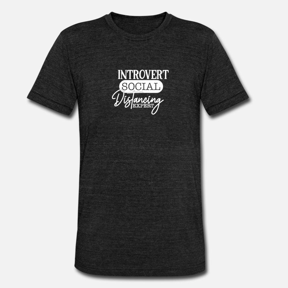 Unisex Gevşek Yeni Moda Bahar Kalıbı 3XL Ev Introvert Sosyal Mesafenin Uzmanı Tişörtlü Erkekler Karakter Pamuk Artı Boyutu At kalmak