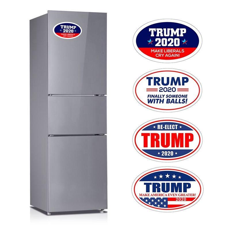 Fridge Magnet 4pcs removível Donald Trump Sticker 2020 Amercian do presidente da eleição Frigorífico Adesivos Mantenha América Grande