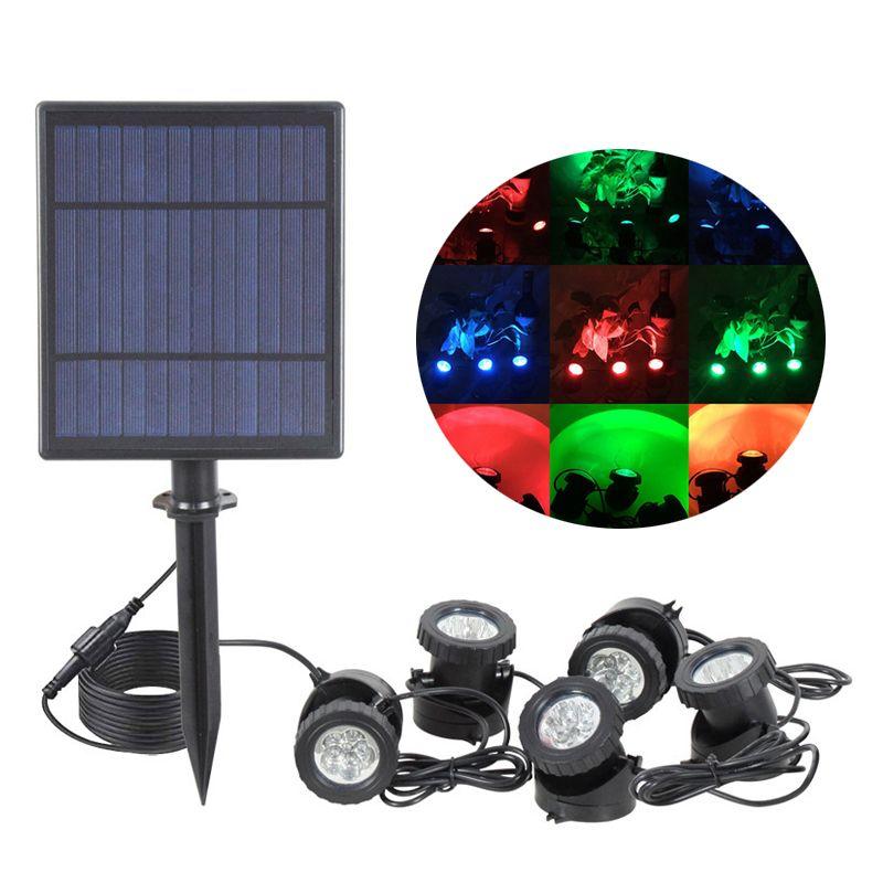 Solar Spotlights Landscape Lights Low Voltage Outdoor Solar Spotlight IP65 Waterproof 16.4ft Cable Auto On/Off
