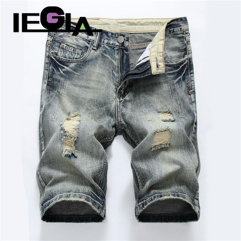 Jeans Man Summer Shorts Fashion Casual Pantaloni Stretch Mens Short Denim Jean Jeans Jeans per uomo Streetwear