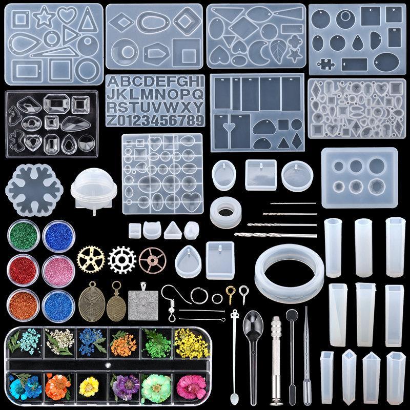 Joyería de estilo mixto Moldes de fundición epoxi Moldes de fundición de silicona herramientas de fundición UV de silicona Moldes de resina de arcilla para joyería Fabricación de bricolaje