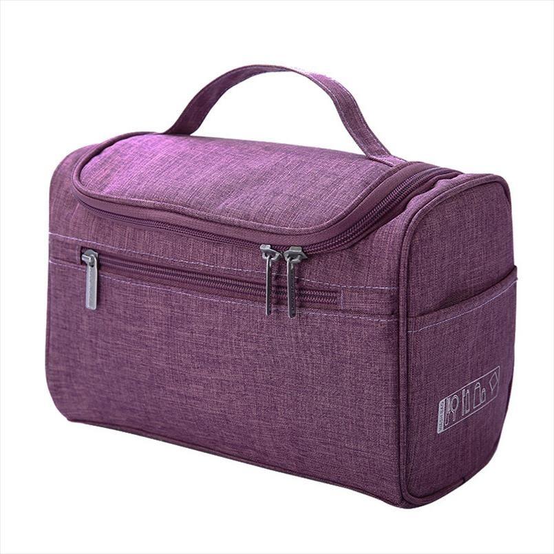 Cosmetic bag doppia cerniera Donne cosmetico Custodia da viaggio Organizer Portable pacchetto sacchetti di trucco signore essenziali Estetista