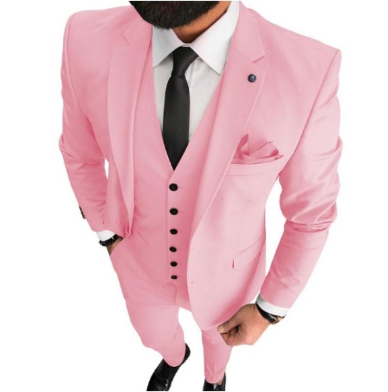 Schlank Passt Mens Abschlussball-Partei Anzüge Bräutigam Smoking-Mann-Mantel Weste Hose Set (Jacket + Pants + Vest + Fliege) K208