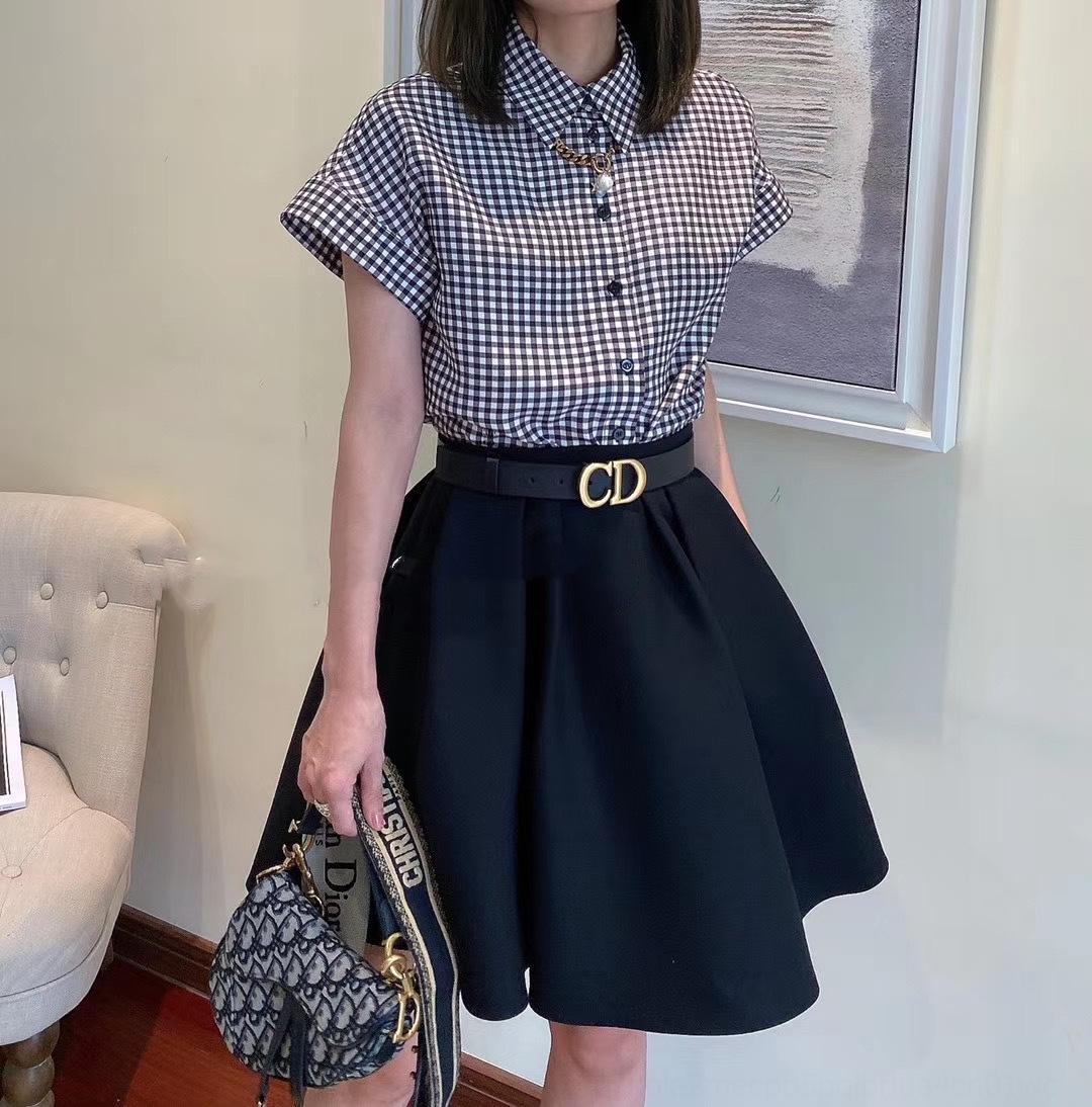 sIIu0 mR6QA 2020 Temperament neue Art des Herbst gleiches Hemd Plaid Revershemd dreidimensionale Frauen Overskirt lässig frühe Anzug für flauschige