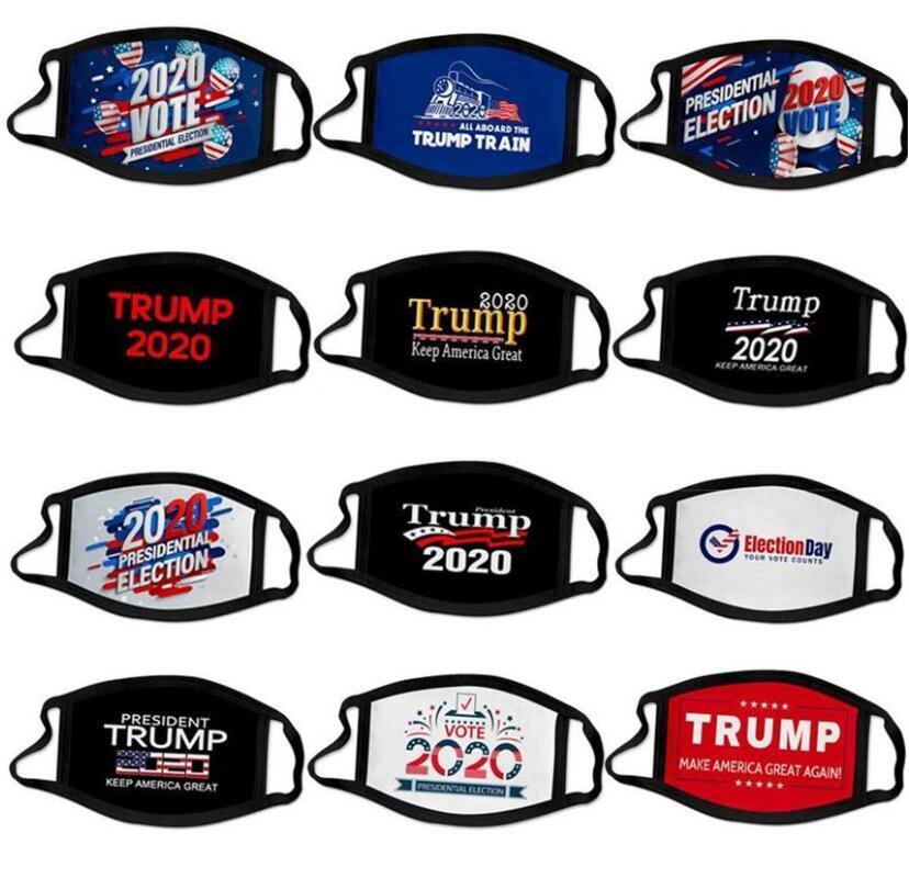 EEUU Stock 35 Estilos Mascarillas Suministros elección americana Trump prueba de polvo máscara de la máscara de los hombres y la bandera americana mujeres Para universal
