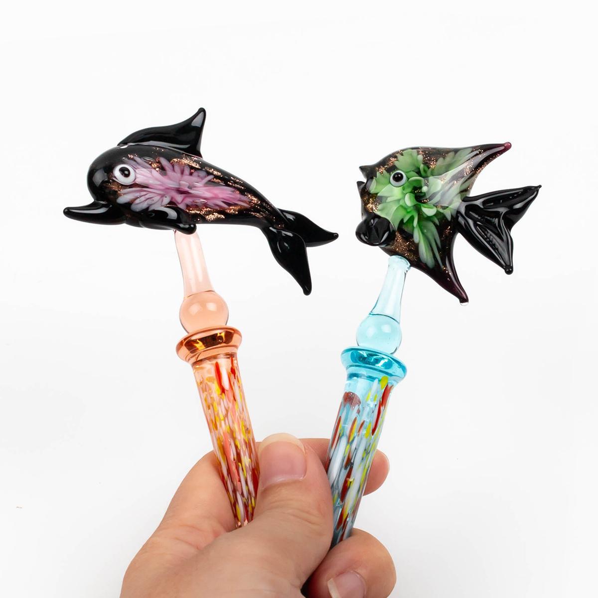 Neueste bong dabber Werkzeuge Tiere Muster Stil carb Kappe für Glas Bohrinseln Abtupfen Schnitzen Werkzeug für E Nägel Kit Quarz banger Dab Nagel