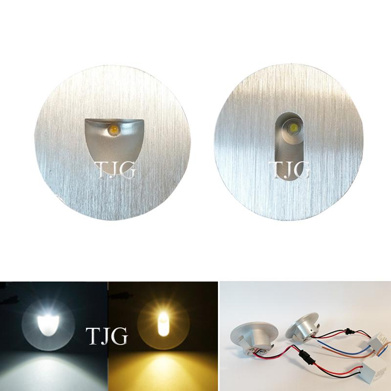 New led wall light 3W Round Aluminum wall sconce Recessed footlight Indoor Stair step decorative night lights Modern lamp