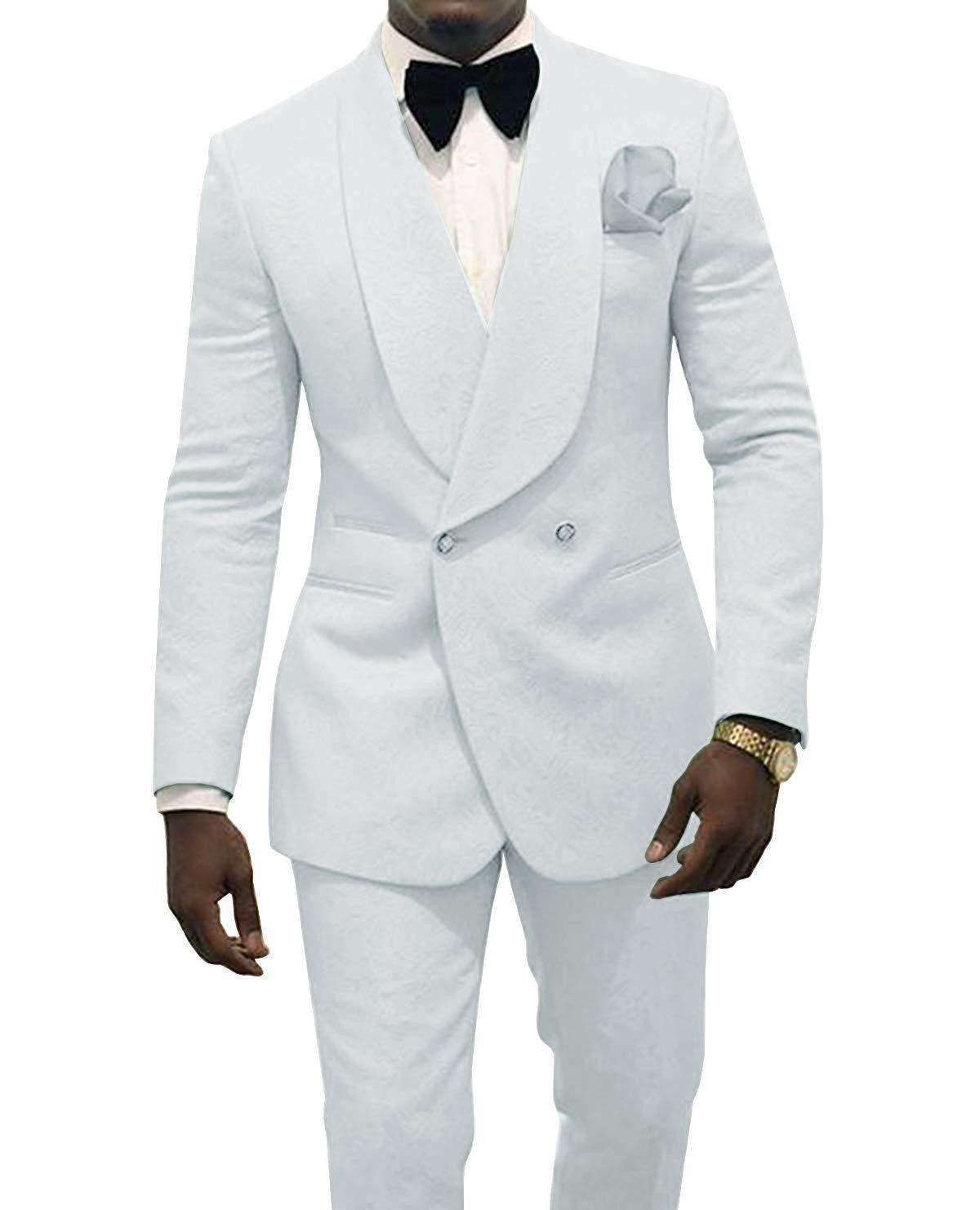 Zweireihiger Paisley Mann Arbeit Anzug Bräutigam Smoking Weddiing Blazer Herren Partei Anzüge (Jacket + Pants + Fliege) D: 370