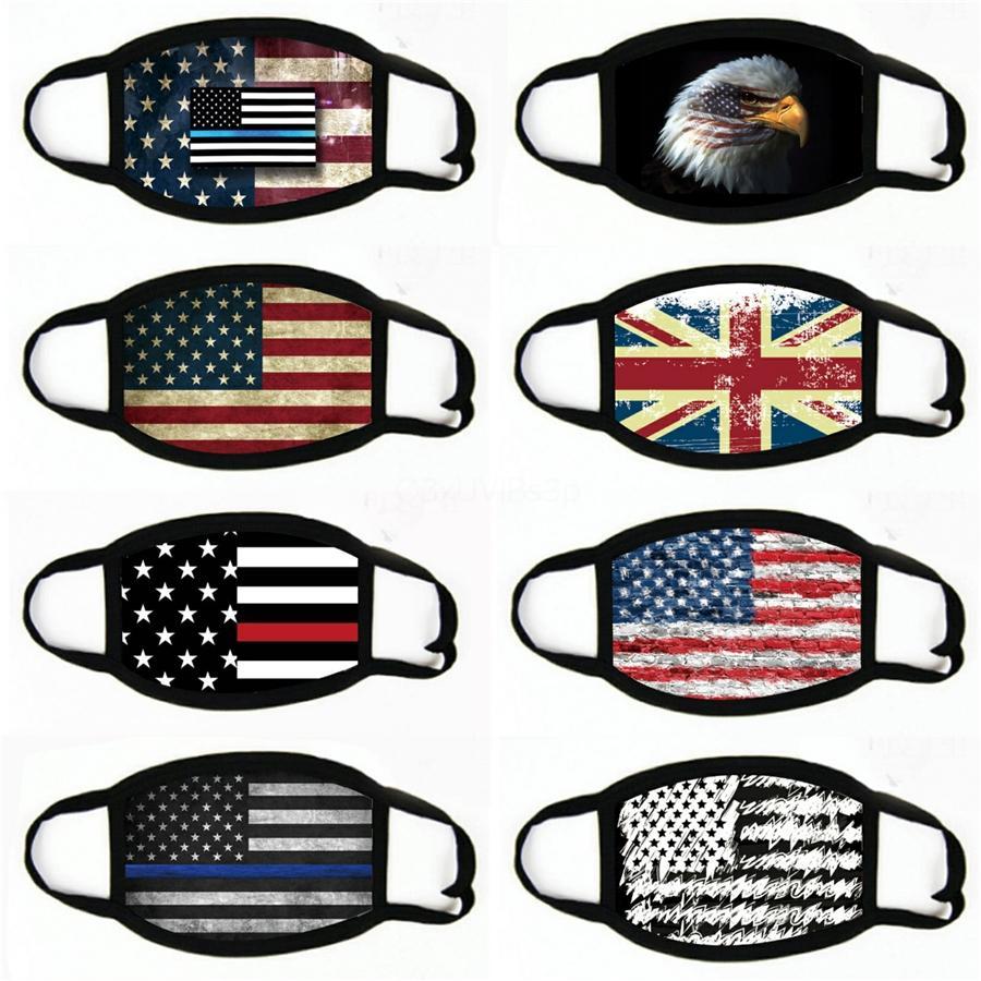 American Flag Printing Gesichtsmaske staubdichte Winddichte Sonnenschutz mit Kapuze Radfahren MaskWashable Masken # 179
