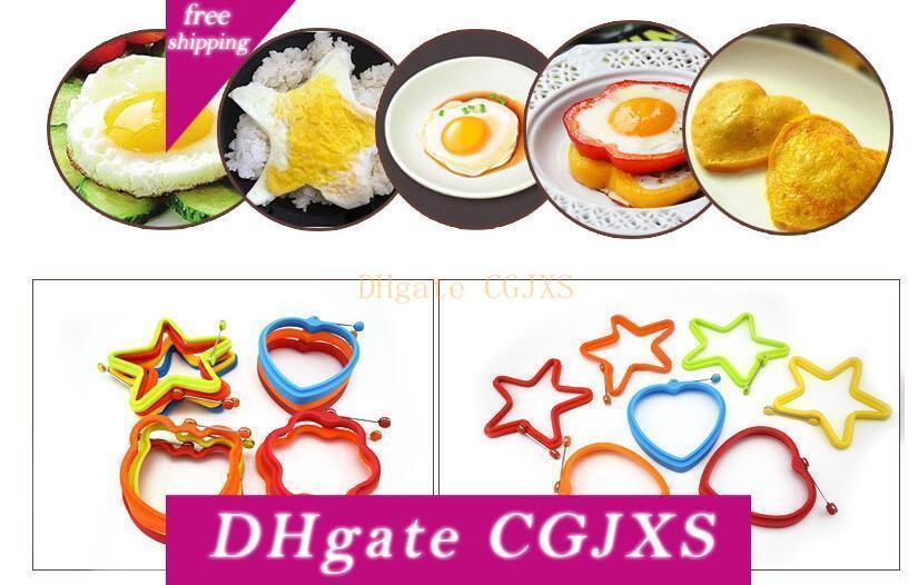 Силиконовые яйца Блины кольцо Творческий Non -Stick Pentagram Медведь Форма силиконовая Яйцо Mold для приготовления завтрака сковороду Духовка Кухня