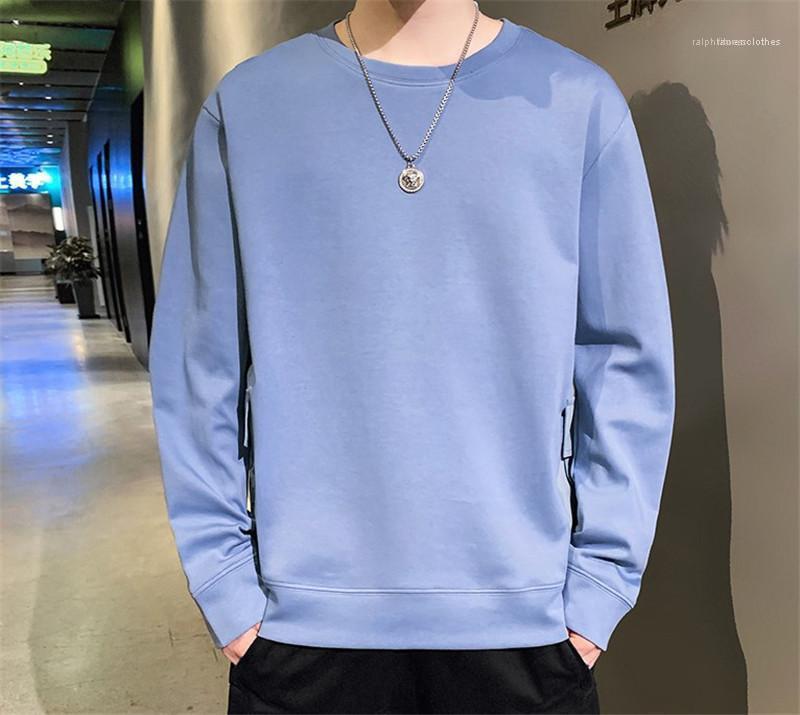 Sudaderas para hombre sudaderas de diseño color sólido suéter regular para hombre sudaderas de manga larga con cuello de O suelta para hombre