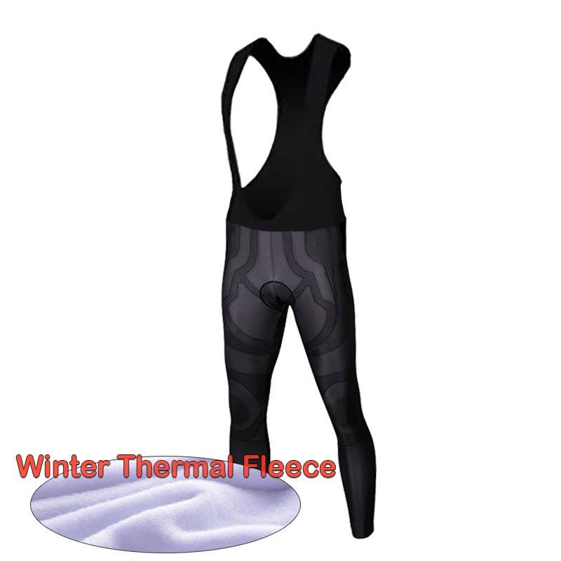 Quente Inverno Ciclismo Calças de calças dos homens Pro bicicleta longa térmica do velo de inverno do homem Ropa Ciclismo Ciclismo calças justas, babetes