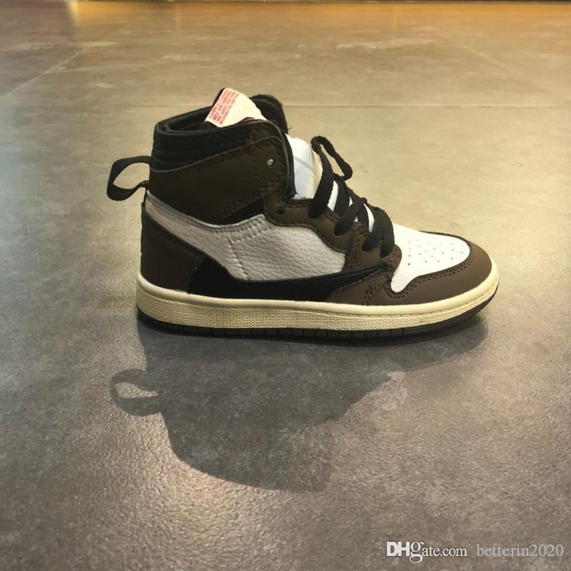 1s Cactus Jack 2019 Shoes Crianças Basketball Ts Travis Scotti alta Og 1 Sneakers Outdoor Sports pré-jovens Crianças da menina do menino Trainers