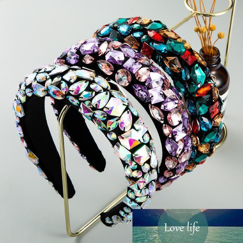 Acessórios Rhinestone Headbands Cabelo barroco Jeweled Hairband para Mulheres Meninas de cristal moldura elegante de veludo cetim headband moda jóias