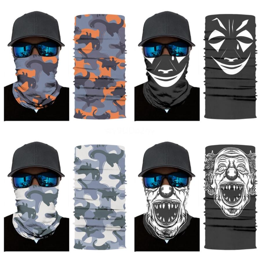 3D Magic Druck Sport-Maske Sommer Haut kühles Eis-Silk atmungsaktiv Radfahren bequeme elastische Kraft Hals Schädel-Schal Riding Schädel Scar # 659 Maske