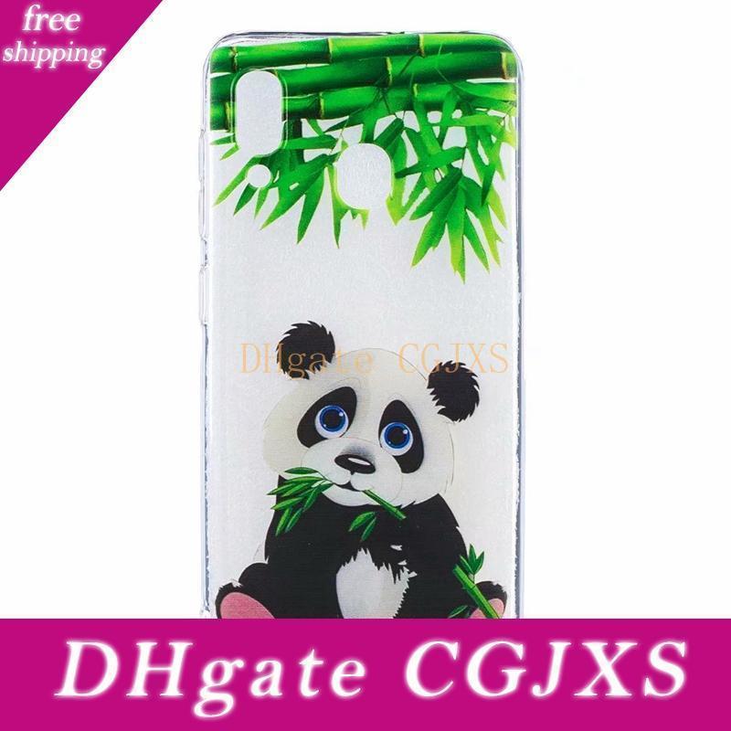 Yumuşak TPU Kılıf için Samsung Galaxy M10 M20 A50 A30 Çiçek Kelebek Baykuş penguen Panda Ayçiçeği Donut Köpek Zebra Hayvan Karikatür Kapak Jel
