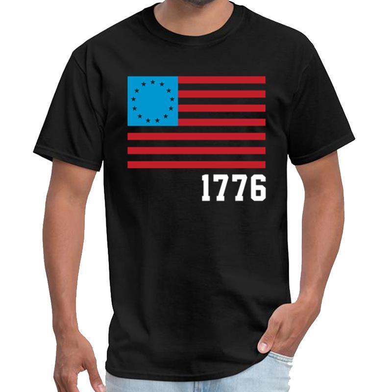 Impresso Betsy Ross bandeira dos EUA 1776 camisa stormiworld t homens e mulheres camiseta Casa de Papel topos hiphop s-5XL