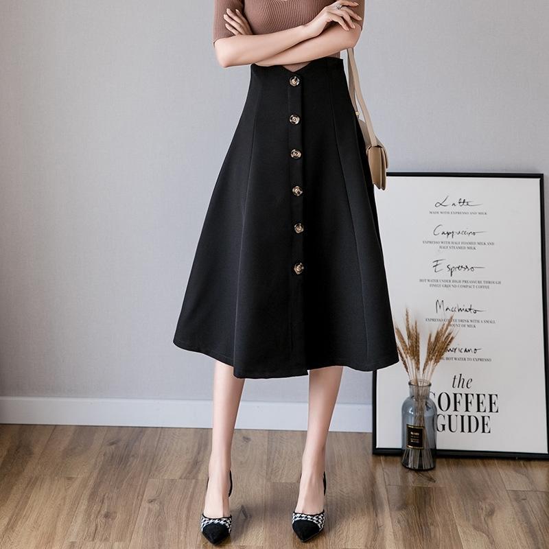 metade do comprimento qOGNy Professional Z2eQ1 alto verão 2020 nova cintura longo slimminglarge balanço guarda-chuva vestido de Comprimento Médio em forma de uma saia guarda-chuva