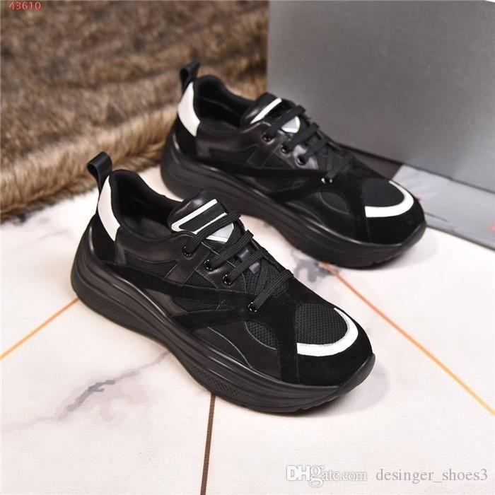 Erkek Yeni gündelik spor ayakkabıları, çok malzeme ekleme renk, nefes alabilen kalın taban koşu ayakkabıları tam paket büyüklüğü 38-44cm