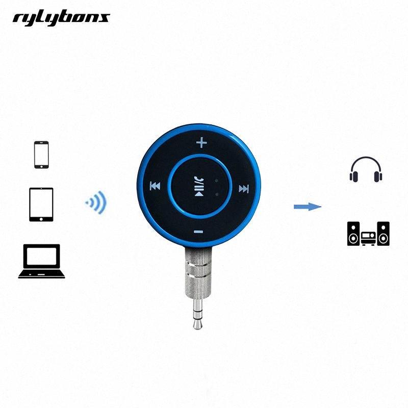 Rylybons Kablosuz Bluetooth Aux Alıcı 3.5 Jack Bluetooth Hands Free Araç Kiti A2DP stereo Eller serbest aux Adaptör 07X3 #
