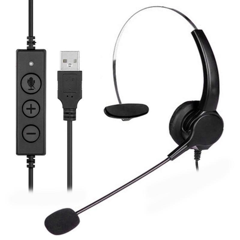 Telefono auricolare Call Center Operator USB con cavo 360Rotatable Ufficiale cuffia portatile Spettacolo auricolare alimentazione