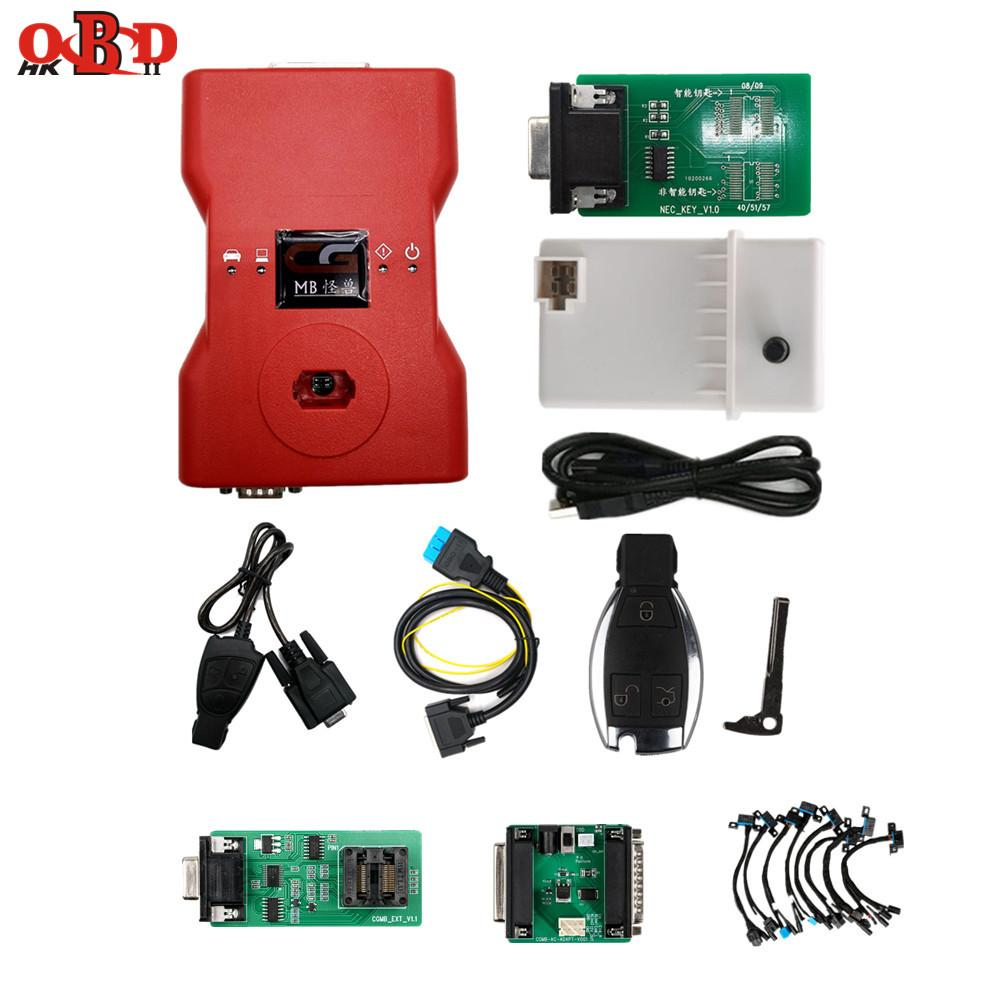 Original CGDI Prog MB Support All Key Lost Fastest Add Key With ELV Adapter&Simulator&AC Adapter&EIS ELV CGMB with Key For Benz