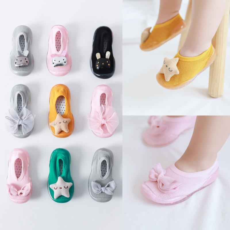 Toddler Baby Shoes Newborn Girls Kids Soft Sole Rubber Shoes Socks Slipper Stocking Infant Baby Girl Chaussure Fille