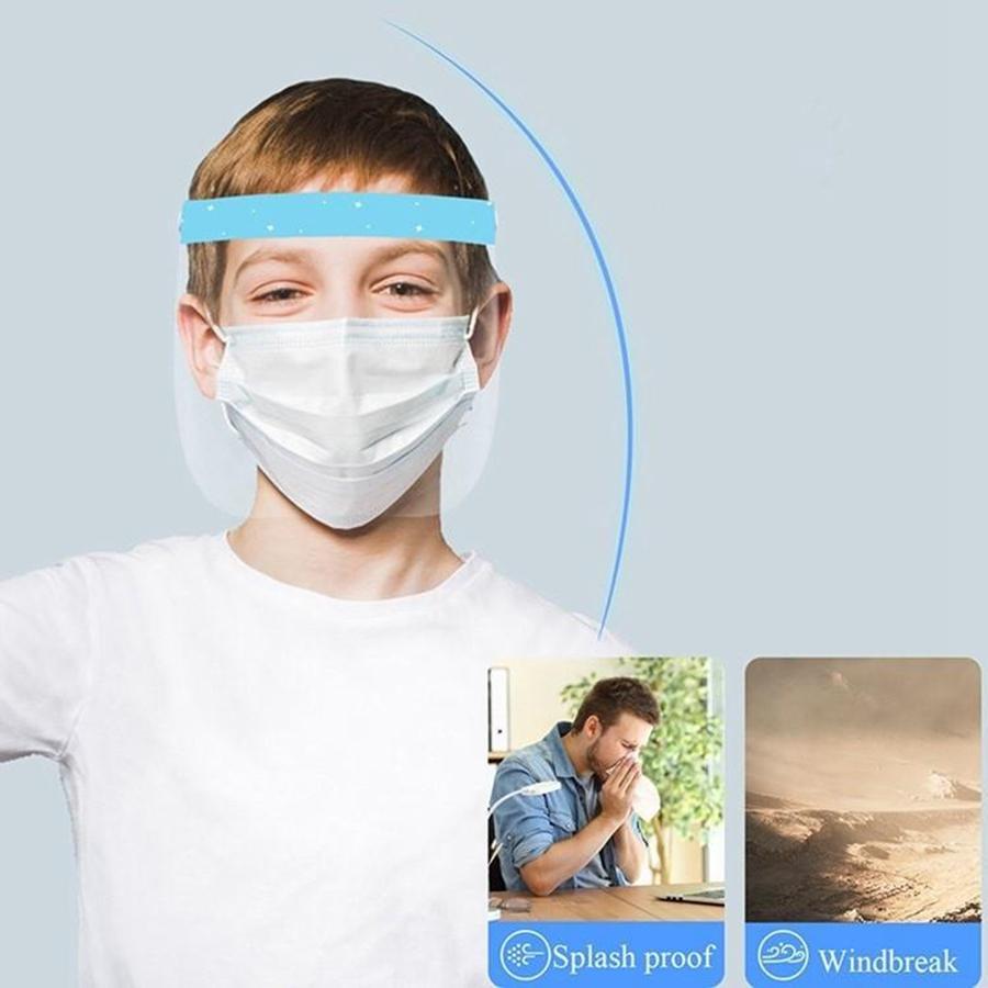 Niños transparente a prueba de cara anti del protector de salpicaduras de aceite anti Escupir Escudo de Máscara de partículas Protección Aislamiento Máscara Diseñador DDA395