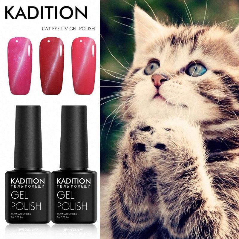 Gel Vernis à ongles 5D Cat Eye Nail Gel magnétique Soak Off UV Polish Effet vernis Starry Sky Jade Manucure Laque XyPt #