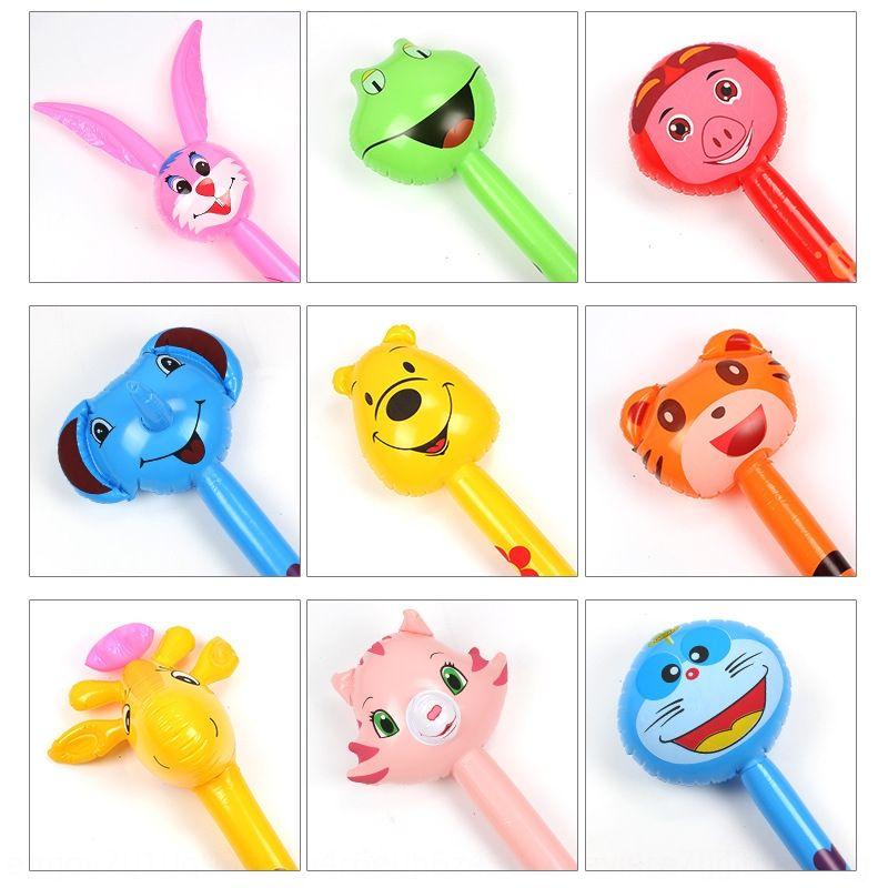 PVC Kinder Tierspielzeug langen Langstock Tier Giraffe Stick Inflatable Kopf aufblasbares Spielzeug ZBJMj