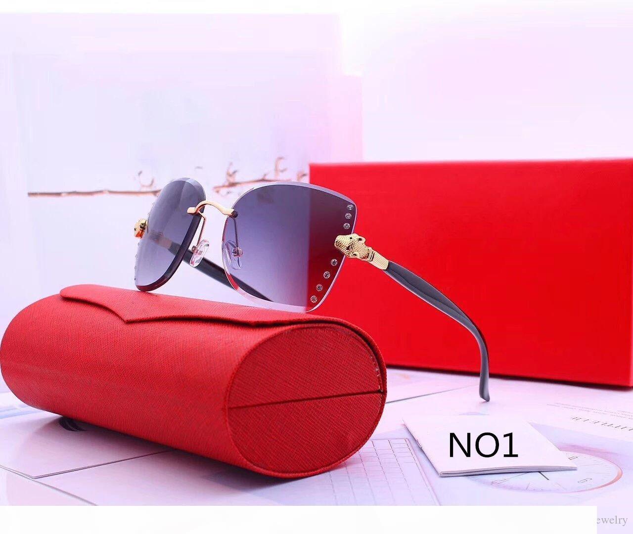 Lunettes de soleil de luxe Womens Designer Lunettes de soleil pour femme Mode Adumbral Lunettes 6 couleur de haute qualité avec la boîte