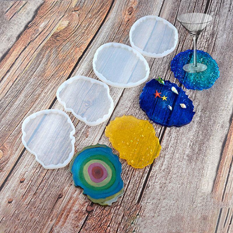 Silikon-Cup-Behälter-Form-Epoxidharz-Form große, unregelmäßige Wellen geformte Coaster Schmucksachen, die Fertigkeit-Food Grade DIY Moulds IIA567